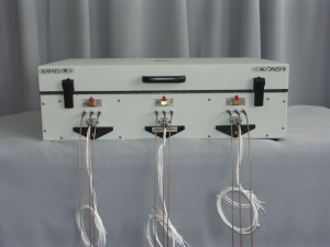 Microwave testing, wave guides, microwave temperature testing